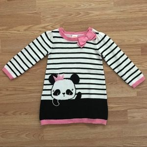 COPY - Gymboree Black white and pink sweater dres…